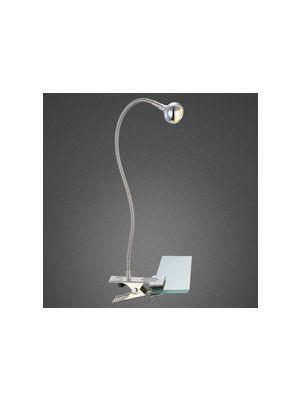 LED Luč na ščipalko SERPENT matiran nikelj, matirano, krom Globo 24109K
